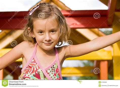 cute little girl stock photo image of clips hold girl