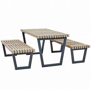 Table Et Banc De Jardin : bancs de jardin et fauteuils ext rieur avec table bas ~ Melissatoandfro.com Idées de Décoration