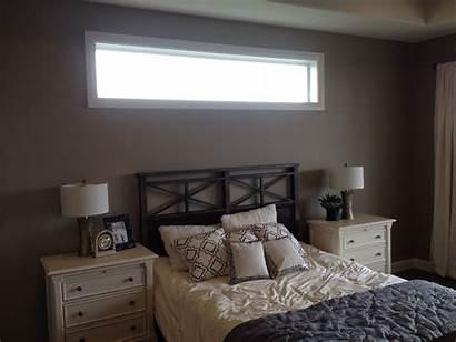 Bed Windows Window Above Thin Narrow Bedroom