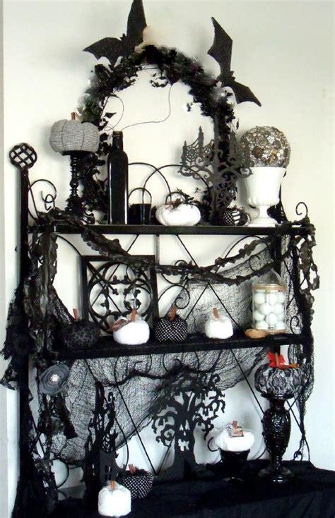 black  white halloween decorations ideas