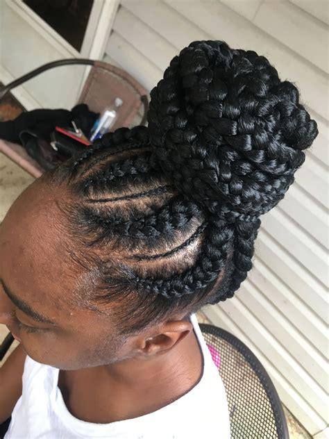 feed in braids updo braids hair styles natural hair