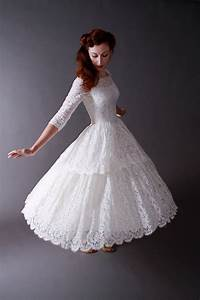short wedding dresses vintage 1950s tea length new look With looking for wedding dresses
