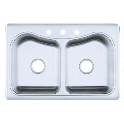 kohler staccato drop in stainless steel 33 in 3