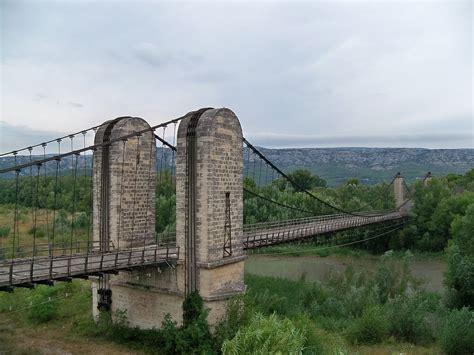 portee d un pont pont suspendu sur la durance wikip 233 dia