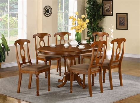 pc oval dinette dining room set table   chairs ebay