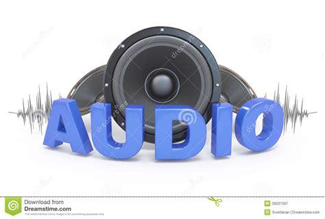 Audio Concept Icon. Stock Illustration. Illustration Of