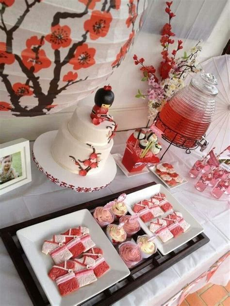 japanese themed decor party table decorating ideas how to make it pop