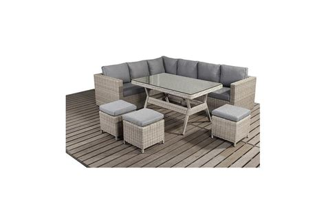 rural left rattan corner sofa  dining table set