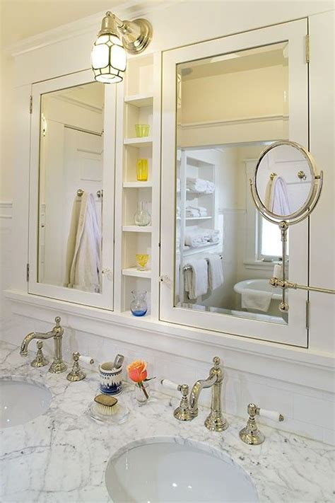 Bathroom Mirrors With Medicine Cabinet by Some Many Elements In This Pic Built In Cabinets W