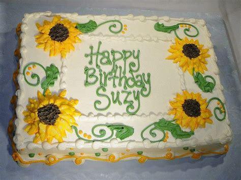 sunflower sheet cake buttercream sunflowers ivory yellow