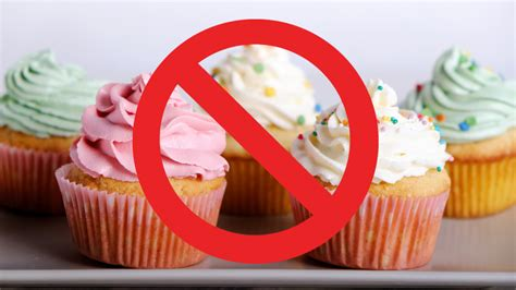 birthday cupcakes  candy canes banned  school