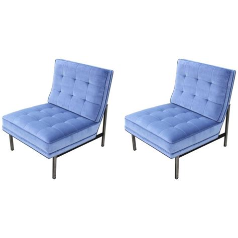 pair of modern 1960s knoll parallel bar lounge chairs in