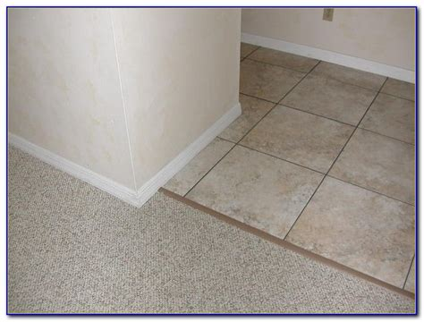 schluter tile to carpet transition tiles home