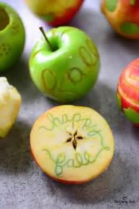 fall apple carving  gunny sack