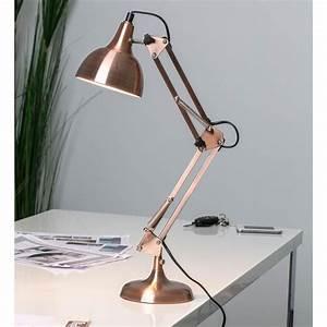 Lampe à Poser Cuivre : lampe de bureau articul e en m tal cuivr hauteur 60cm ~ Dailycaller-alerts.com Idées de Décoration
