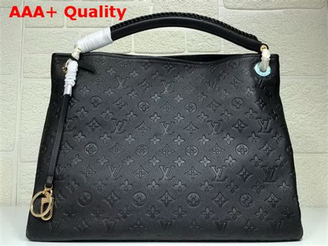 louis vuitton artsy mm black embossed calf leather