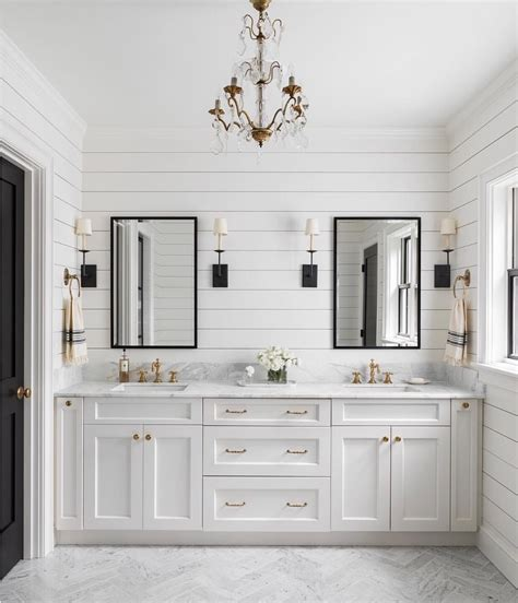 White Shiplap Bathroom by Another Beautiful Angle Of Our Waterfront Modern Farmhouse