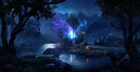 fairy forest fantasy abstract background wallpapers