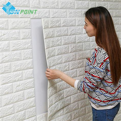 pe foam diy  adhensive  wall stickers brick