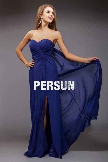 robe longue bleu pour mariage
