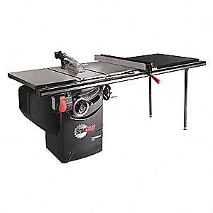 sawstop table saw dimensions sawstop cabinet table saw 13a 85 1 4 in w 230v 46ac41