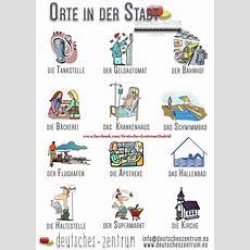 Orte In Der Stadt Vocabulario Deutsch German Daf Grammatik  Im Der Stadt Pinterest