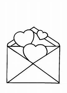 Brief Offen Drei Herzen Ausmalbild Malvorlage Liebe