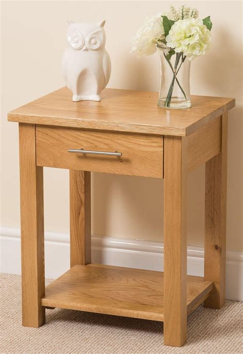 end table with light oslo solid oak l table free uk delivery 7056