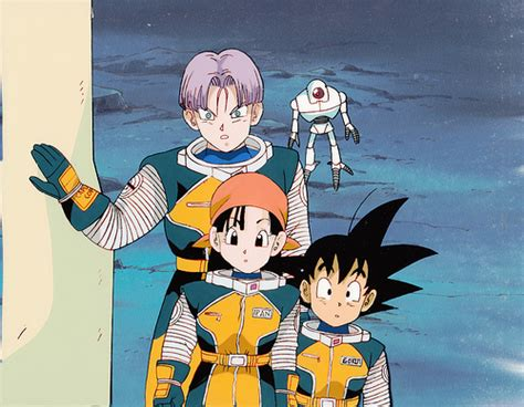 Goku, Trunks, Pan, Giru