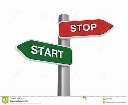 Stop Start Choice Illustration Sign Direction Royalty