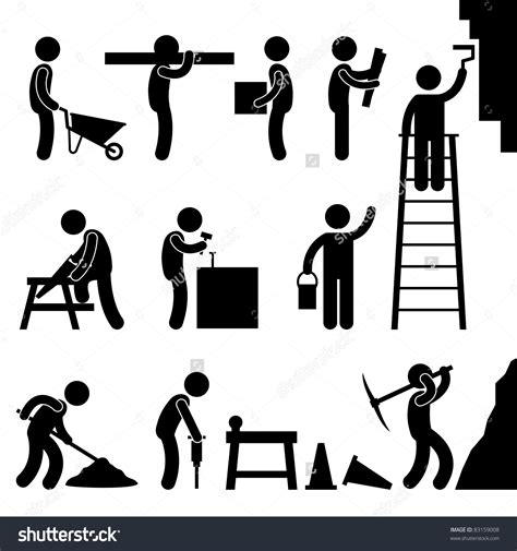 11466 work clipart black and white construction work black and white clipart
