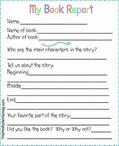 printable book report forms elementary book and book With book report template for 2nd grade