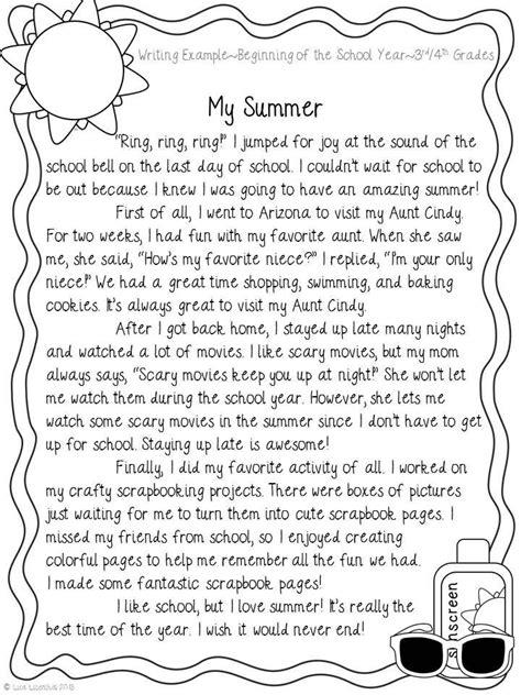 summer narrative writing   beginning