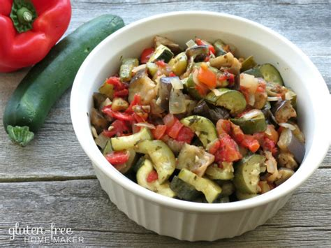 delicious veggie dishes ratatouille a delicious vegetable dish the gluten free homemaker