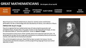 8 Great mathematicians and their inventions