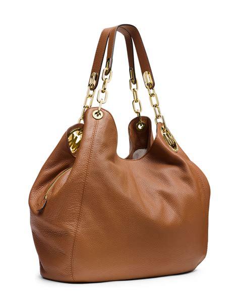 large leather purse lyst michael michael kors fulton large shoulder tote bag