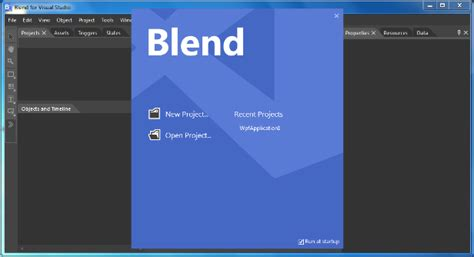 blend visual studio erase template blend creating a new project codesteps