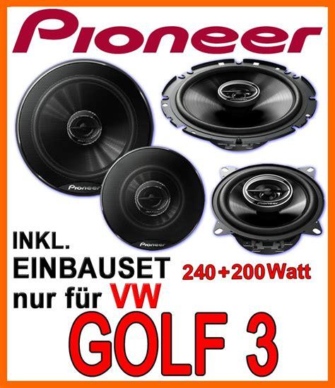 Vw Golf 3 Lautsprecher Lautsprecherset Pioneer Front