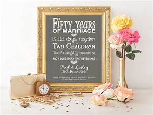 50th anniversary gift personalised by pinkmilkshakedesigns With 50 year wedding anniversary gift