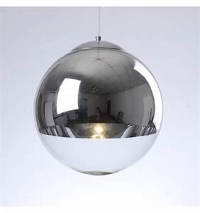 Suspension Luminaire En Verre Transparent : suspension design sph re chrome verre transparent globe ~ Teatrodelosmanantiales.com Idées de Décoration