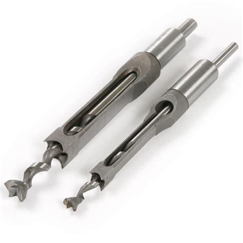 drill bit 2pc 10mm 16mm square hole saw mortising chisel w twist drill bit wood tool ebay