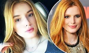 bella thorne ditches  fiery red hair colour