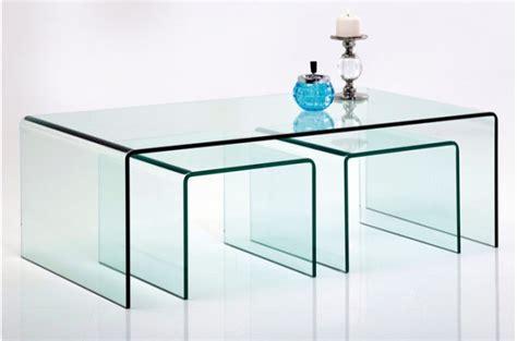 table gigogne verre set de 3 tables gigognes en verre fidji tables basses pas cher