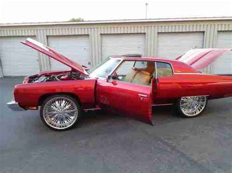 buy used 1973 chevrolet impala candy apple red paint new