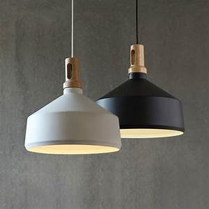 Wood pendant ceiling lights : Contemporary pendant light funnel wooden ceiling lighting