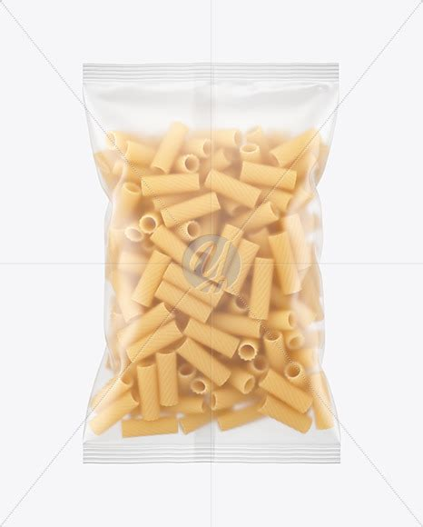 Best free packaging mockups from the trusted websites. Frosted Plastic Bag With Tricolor Chifferini Pasta Mockup ...