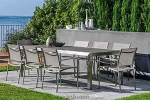 Table Et Chaise Jardin : table de jardin design inox et verre tremp patch de talenti ~ Teatrodelosmanantiales.com Idées de Décoration