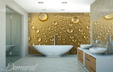 impressive wall murals   bathroom