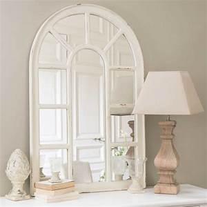 Miroir Fenetre Maison Du Monde : miroir fen tre en bois blanc h 122 cm ofelia maisons du monde ~ Teatrodelosmanantiales.com Idées de Décoration