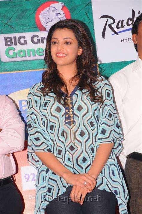 kajal latest   big green ganesha  launch
